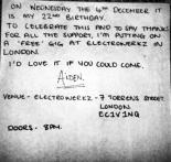 Free gig electrowerkz