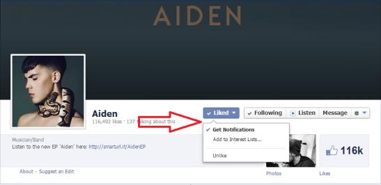 Aiden Facebook notify